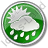 Rain Occasional Circle Green Icon