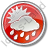 Rain Occasional Circle Red Icon