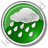 Rain Circle Green Icon, PNG/ICO, 48x48