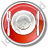 Restaurant Tableware Circle Red Icon