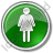 Restroom Women Circle Green Icon