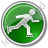 Roller Skating Circle Green Icon, PNG/ICO, 48x48