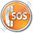 SOS Circle Orange Icon