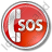 SOS Circle Red Icon