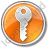 Security Circle Orange Icon, PNG/ICO, 48x48