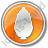 Shrub Circle Orange Icon