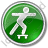 Skateboarding Circle Green Icon
