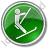 Ski Lift Surface Lift Circle Green Icon