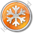 Snow Circle Orange Icon, PNG/ICO, 48x48