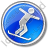 Snowboarding Circle Blue Icon, PNG/ICO, 48x48