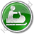 Snowmobiling Circle Green Icon, PNG/ICO, 48x48