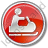 Snowmobiling Circle Red Icon, PNG/ICO, 48x48
