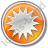 Sunny Circle Orange Icon