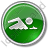 Swimming Circle Green Icon