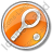 Tennis Racket Circle Orange Icon, PNG/ICO, 48x48