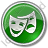 Theater Circle Green Icon