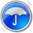 Umbrella Circle Blue Icon, PNG/ICO, 48x48