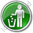 Waste Container Circle Green Icon