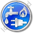 Water Gas Electricity Circle Blue Icon, PNG/ICO, 48x48