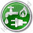 Water Gas Electricity Circle Green Icon, PNG/ICO, 48x48