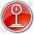 Weight Circle Red Icon, PNG/ICO, 48x48