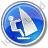 Windsurfing Circle Blue Icon