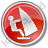 Windsurfing Circle Red Icon