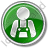Worker Circle Green Icon, PNG/ICO, 48x48