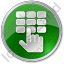 ATM Keypad Circle Green Icon