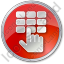ATM Keypad Circle Red Icon, PNG/ICO, 64x64