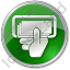 ATM Money In Hand Circle Green Icon, PNG/ICO, 64x64
