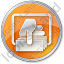 ATM Money Out Circle Orange Icon, PNG/ICO, 64x64