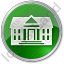 Administration Circle Green Icon, PNG/ICO, 64x64