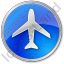 Airport Circle Blue Icon