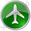 Airport Circle Green Icon