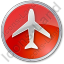 Airport Circle Red Icon