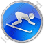 AlpineSkiing Circle Blue Icon, PNG/ICO, 64x64