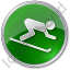 AlpineSkiing Circle Green Icon