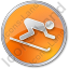 AlpineSkiing Circle Orange Icon