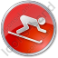 AlpineSkiing Circle Red Icon