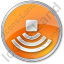 Amphitheater Circle Orange Icon
