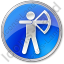 Archery Circle Blue Icon