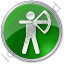 Archery Circle Green Icon