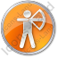 Archery Circle Orange Icon, PNG/ICO, 64x64