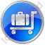 Baggage Cart Circle Blue Icon