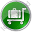 Baggage Cart Circle Green Icon