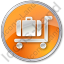 Baggage Cart Circle Orange Icon