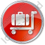 Baggage Cart Circle Red Icon