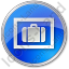 Baggage Storage Circle Blue Icon