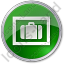 Baggage Storage Circle Green Icon